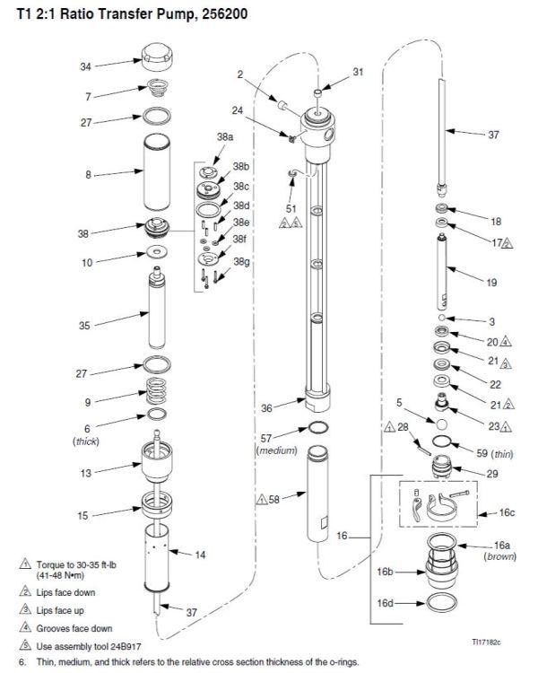 Graco T1 Transfer Pump Repair Parts